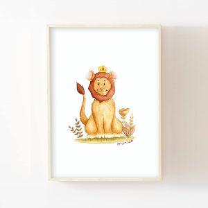 Roi lion – Aquarelle individuelle