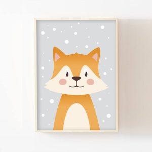 Gaspard, le petit renard sous la neige