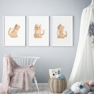 Chatons – Trio Aquarelles