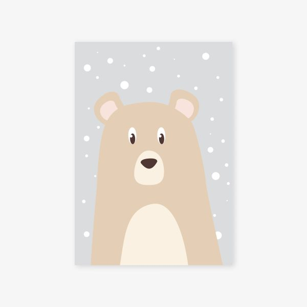 affiche ours fond neige