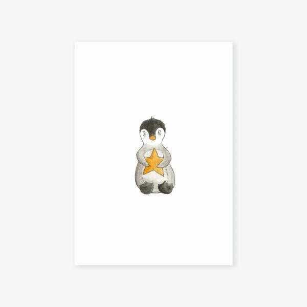 illustration pingouin et son étoile