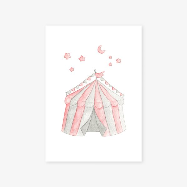 affiche chapiteau rose