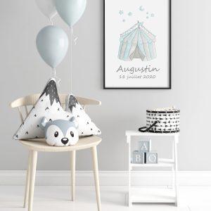 Chapiteau merveilleux – Aquarelle individuelle