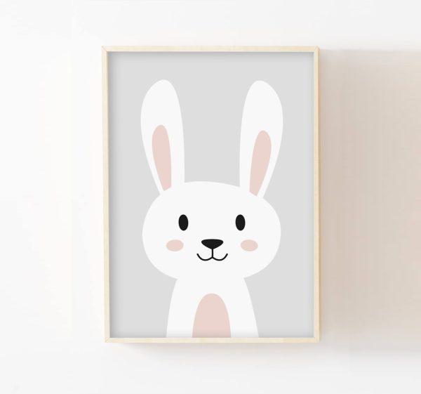 cadre mural lapin