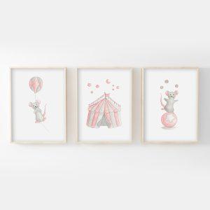 Cirque – souris – Trio Aquarelles