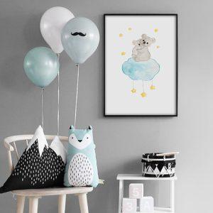 Koala sur son nuage – Aquarelle individuelle