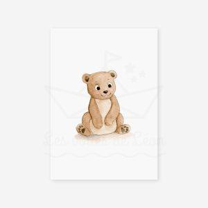 Bébé ours- Aquarelle individuelle