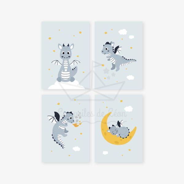 affiches quatuor dragons