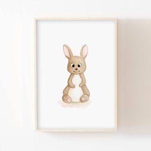 Bébé lapin- Aquarelle individuelle