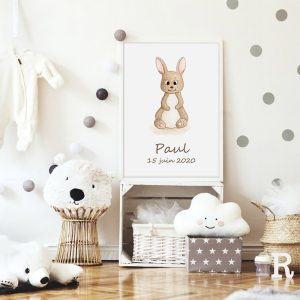 Lapin – Aquarelle individuelle