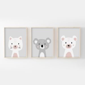 Trio chat, koala, ours