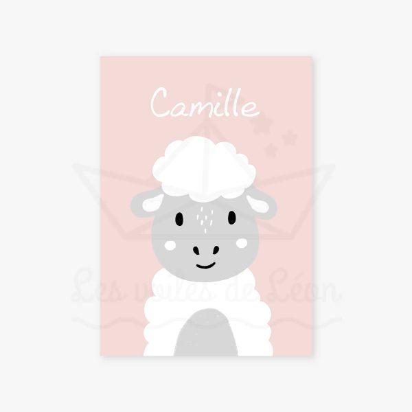 affiche mouton rose