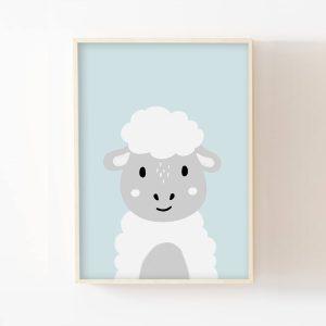 Apollon, le petit mouton – Affiche personnalisée prénom