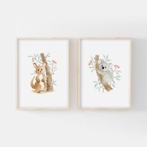Animaux Australie – Koala et kangourou – Duo Illustrations