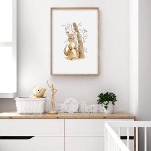 Kangourou – Aquarelle individuelle