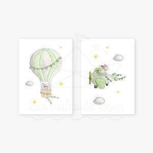 Ciel – Éléphants – Duo Aquarelles