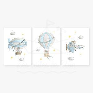 Ciel – Éléphants- Trio Aquarelles