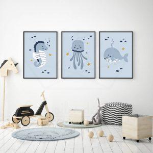 Trio marin – Baleine, Méduse, Hippocampe