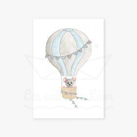 souris bleu montgolfière
